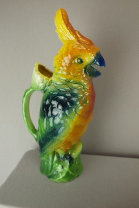 "St. Clement Figural Parrot Pitcher, 13"", Not Shown"