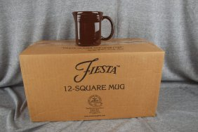 Fiesta Post 86 Chocolate Case Of 11 Square Mugs