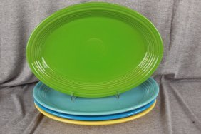 Fiesta Post 86 Platter Group - Shamrock, Turquoise,