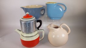 Hall China Co Batter Pitcher And Refrigerator Jug,