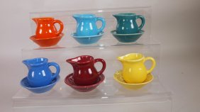 Fiesta Harlequin Individual Creamer And Nut Cup Group: