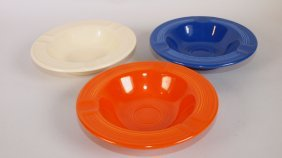 Fiesta Ashtray Group: Red, Cobalt, Ivory