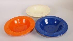 Fiesta Ashtray Group: Red, Cobalt, & Ivory