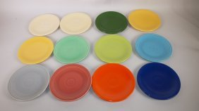 "Fiesta 6"" Plate Group: Lot Of 12 Assorted Colors"