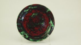 """Fiesta Rare Light Green 7"""" Plate With Lustre Colored"""