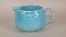 Rare Fiesta Turquoise Individual Creamer, Extremely
