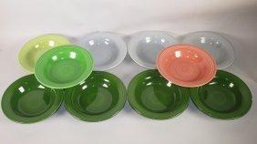 Fiesta Deep Plate Group: 4 Dark Green, 3 Gray,