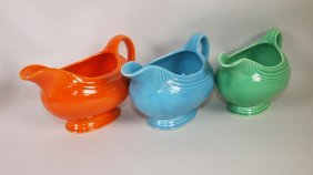 Fiesta Sauce Boat Group: Red, Turquoise, Green