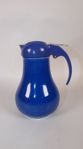 Fiesta Syrup Pitcher, Cobalt