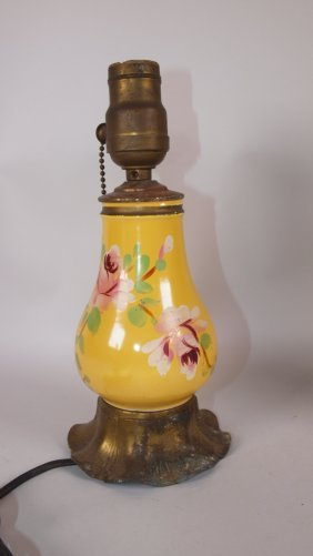 Fiesta Syrup Pitcher Lamp, Yellow With Floral Decor
