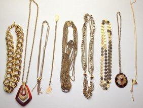 Lot Of 9 Necklaces