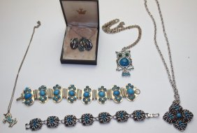 Lot Of Turquoise Jewelry
