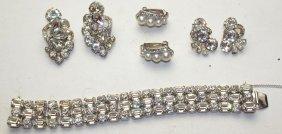 Eisenberg Bracelet & 3 Pair Earrings