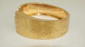 14k Yellow Gold Hinged Bangle Bracelet 39.6g