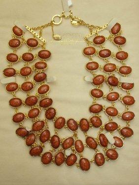 Amrita Singh Reversible Necklace (brown/pink)