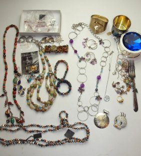 Large Lot Of Sterling Silver And Other Jewelry And