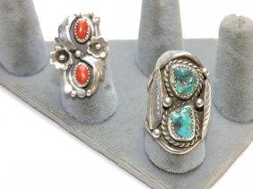 Navajo Sterling Lot Of 2 Rings