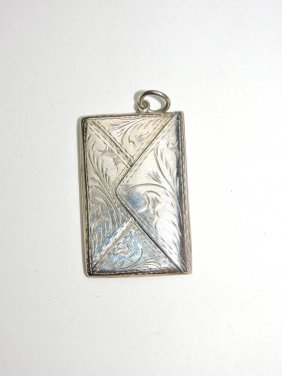 Sterling Silver Pendant Postage Stamp Holder