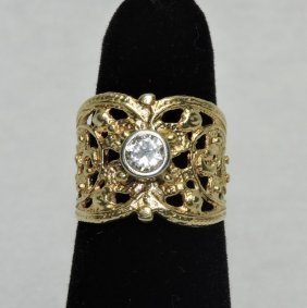 14kt Yellow Gold Lady's Diamond Fashion Ring
