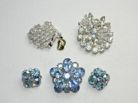 Jewelry Lot - Eisenberg Brooch, Weiss Brooch & Earring