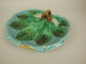 George Jones Majolica Turquoise Napkin Tray With