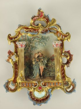 Krause Majolica Three Dimensional Wall Plaque With