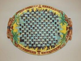 """Wedgwood Majolica Woven Napkin Platter, 12 1/2"""""""