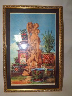 Framed Print Of Minton Water Fountain