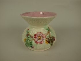 """Majolica Foral Spittoon, 5 1/2"""""""