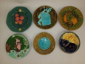 Majolica Lot Of 6 Plates