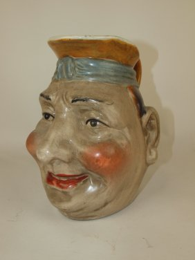 Majolica Style Large Toby Jug