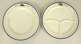 "Chesapeake & Ohio Train Ferry Service Dining China: 10"""
