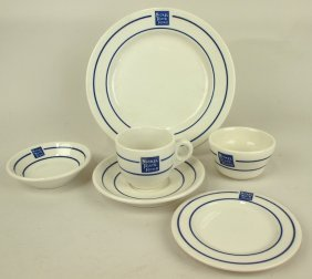 "Railroad Dining Car China, Nickel Plate, ""bellevue"", 6"