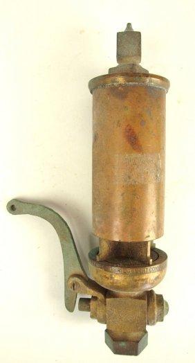 "Brass Steam Railroad Train Whistle, 9""l, 2""d, Kinsley"