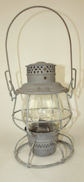 Adams & Westlake Railroad Lantern With Tall Clear Globe
