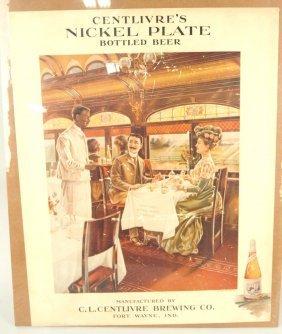 Centlivre Nickel Plate Beer Advertising Poster, Fort