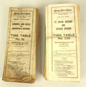 Nickel Plate Road Lot Of Time Tables And Other Ephemera