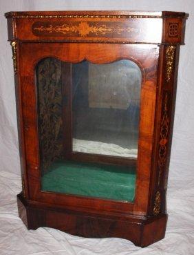 Regency Glass Door Display Cabinet With Mirrored Back