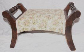 Footstool With Upholstered Top