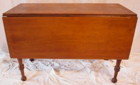 Primitive Walnut Drop Leaf Table