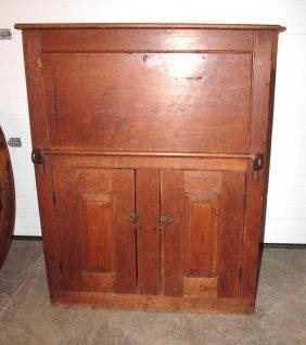 "Early Poplar Drop Front Shipping Clerk's Desk, 49""h X"