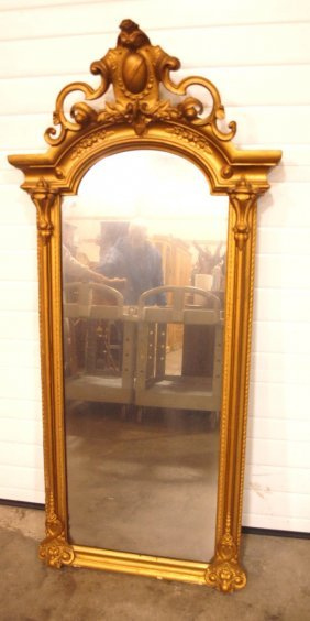 "Gilted Frame Wall Mirror, 63""l, 30""w"