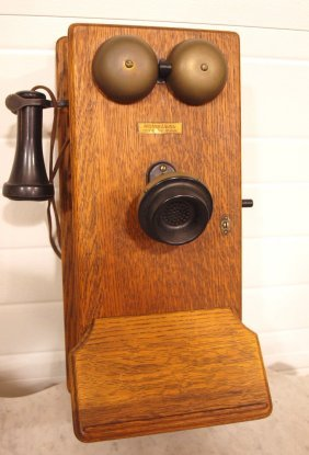 Western Electric Oak Wall Telephone