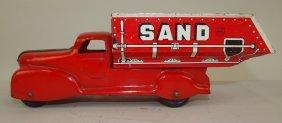 "Marx Tin Litho Sand Dump Truck, 10"""