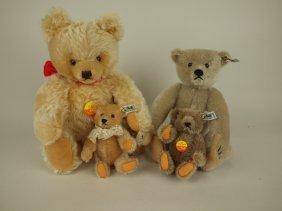 Lot Of 4 Modern Steiff Teddy Bears