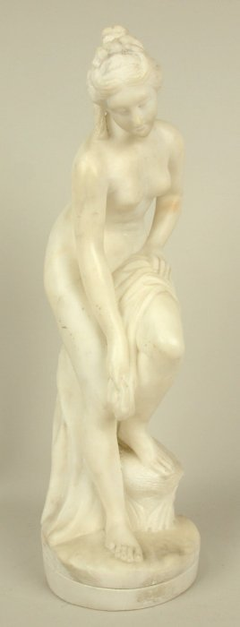 Marble Figure Of Nude Lady, 17""