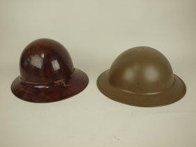 Wwi Metal Helmet And Wwi Style Compostite Helmet