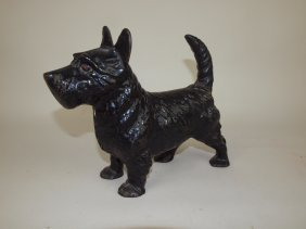 Cast Iron Scottie Dog Door Stop