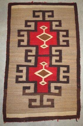 "American Indian Navajo Rug, 54"" X 34"""