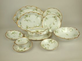 Thoedore Haviland Set Of China: Sauce Boat, Pickle